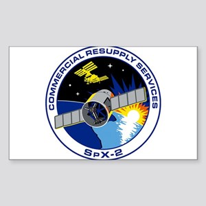 SpX-2 Logo Sticker (Rectangle)