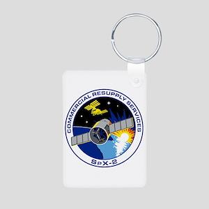 SpX-2 Logo Aluminum Photo Keychain
