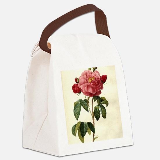 Rosa Gallica Canvas Lunch Bag