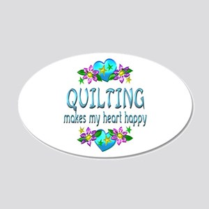 Quilting Heart Happy 20x12 Oval Wall Decal