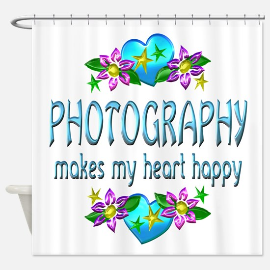 Photography Heart Happy Shower Curtain