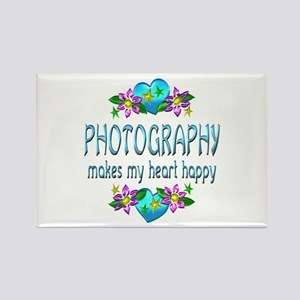 Photography Heart Happy Rectangle Magnet