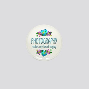 Photography Heart Happy Mini Button