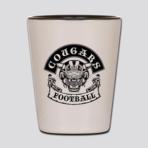 cougars football rocker Shot Glass