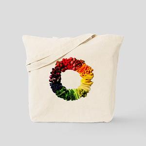Circle Of Fruit N Veg Tote Bag