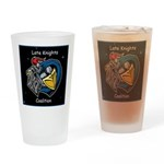 Late Knights Coalition Logo Drinking Glass