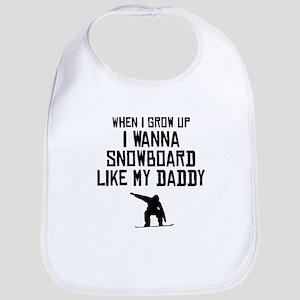 Snowboard Like My Daddy Bib