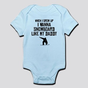 Snowboard Like My Daddy Body Suit