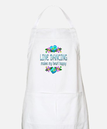 Line Dancing Heart Happy Apron