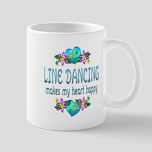 Line Dancing Heart Happy Mug