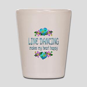 Line Dancing Heart Happy Shot Glass