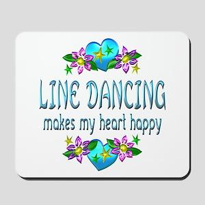 Line Dancing Heart Happy Mousepad