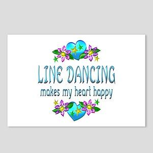 Line Dancing Heart Happy Postcards (Package of 8)