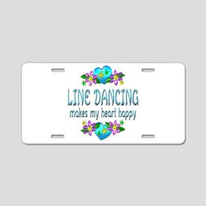Line Dancing Heart Happy Aluminum License Plate