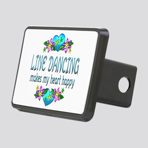 Line Dancing Heart Happy Rectangular Hitch Cover