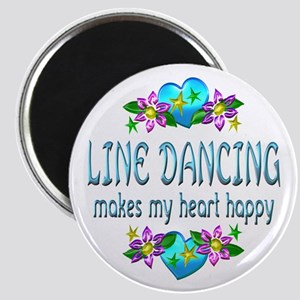 Line Dancing Heart Happy Magnet