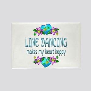 Line Dancing Heart Happy Rectangle Magnet