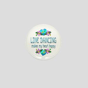 Line Dancing Heart Happy Mini Button