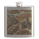 Beautiful Turtles Art Flask