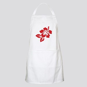 Red Hibiscus Tropical Hawaii Flower Apron