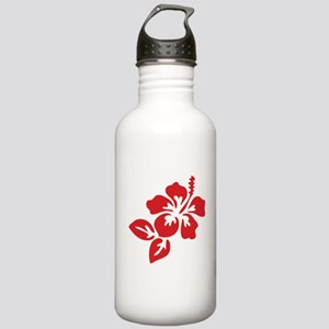 Red Hibiscus Tropical Stainless Water Bottle 1.0L
