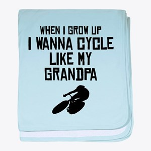 Cycle Like My Grandpa baby blanket