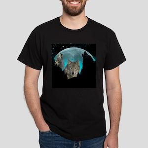 Wolves Twilight Harvest Moon T-Shirt
