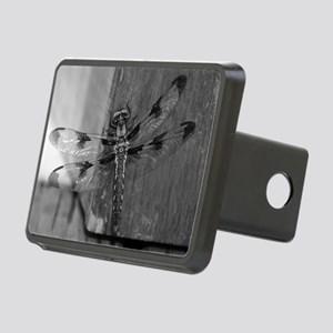 Dragonfly Black & White Rectangular Hitch Cover