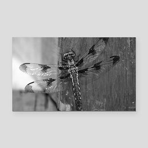 Dragonfly Black & White Rectangle Car Magnet