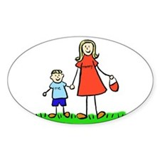 Mother and Son (Blond) Sticker