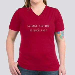 Sci-Fi Beats Sci-Fact Women's V-Neck Shirt T-Shirt