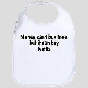 lentils (money) Bib