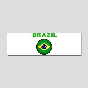 Brazil Soccer 2014 Car Magnet 10 x 3