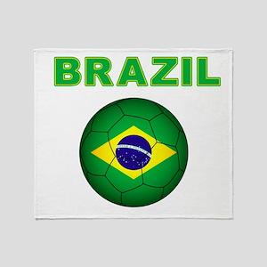 Brazil Soccer 2014 Throw Blanket