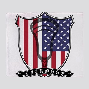 Lacrosse_Scroll_US Throw Blanket