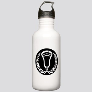 Lacrosse_Round_VW_Blk Water Bottle