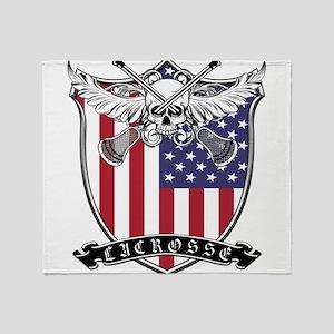 Lacrosse_Skull_US Throw Blanket
