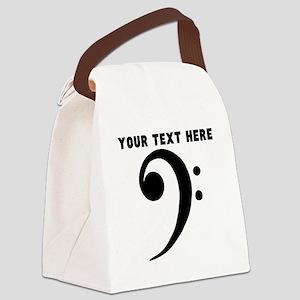 Custom Bass Clef Canvas Lunch Bag