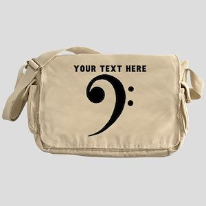 Custom Bass Clef Messenger Bag