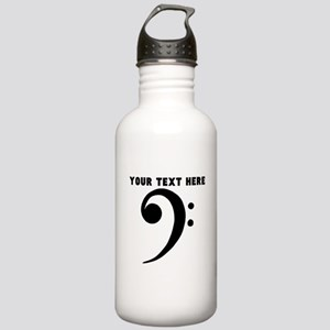 Custom Bass Clef Sports Water Bottle