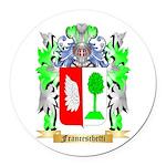 Franceschetti Round Car Magnet
