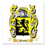 France Square Car Magnet 3