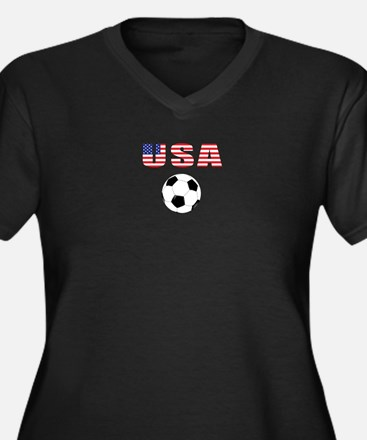 USA soccer Plus Size T-Shirt