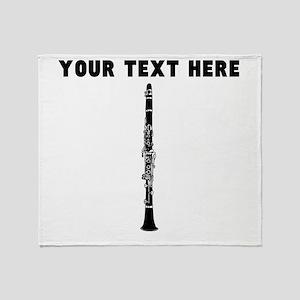 Custom Clarinet Throw Blanket