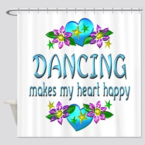 Dancing Heart Happy Shower Curtain
