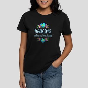 Dancing Heart Happy Women's Dark T-Shirt