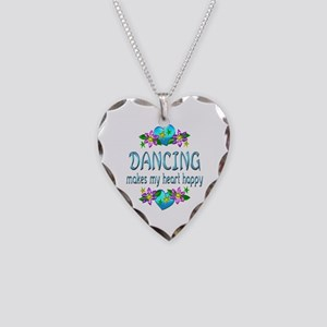 Dancing Heart Happy Necklace Heart Charm
