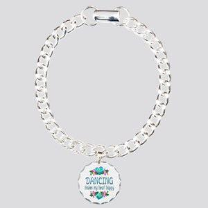 Dancing Heart Happy Charm Bracelet, One Charm