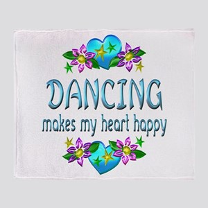 Dancing Heart Happy Throw Blanket