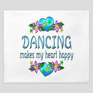 Dancing Heart Happy King Duvet